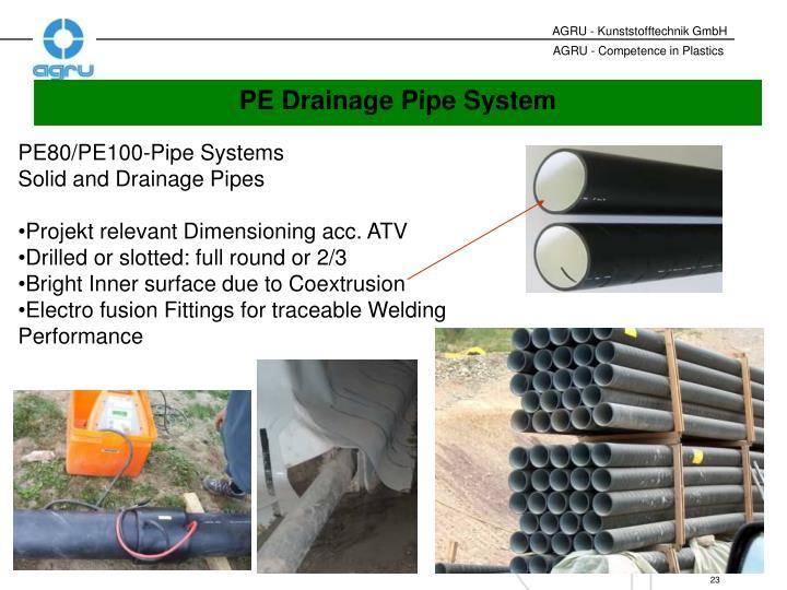 PE80/PE100-Pipe Systems