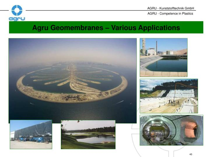 Agru Geomembranes – Various Applications