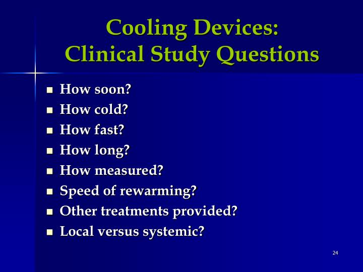 Cooling Devices: