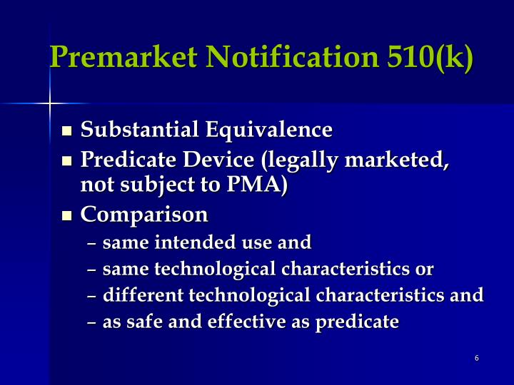 Premarket Notification 510(k)