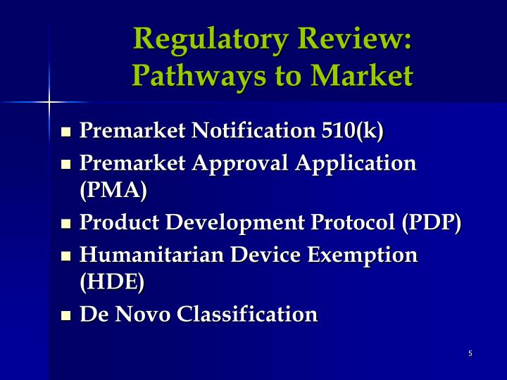 Regulatory Review:
