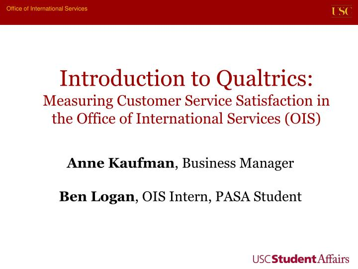 Introduction to Qualtrics:
