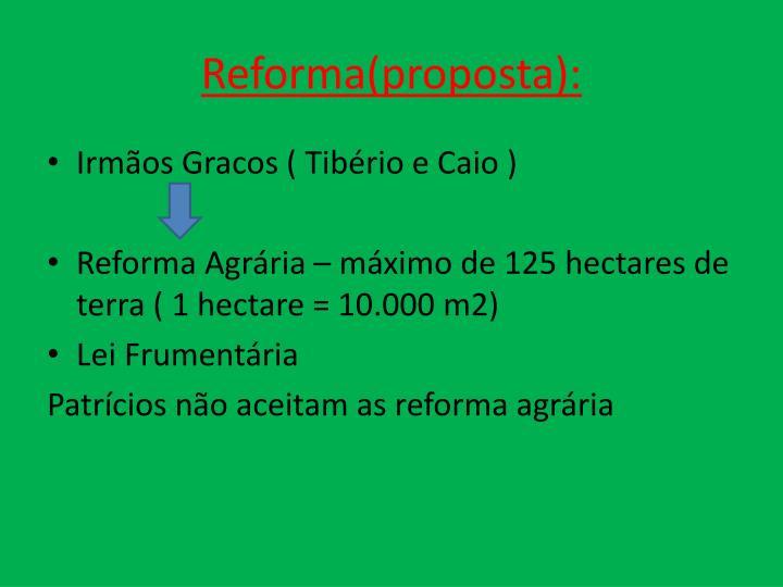 Reforma(proposta):