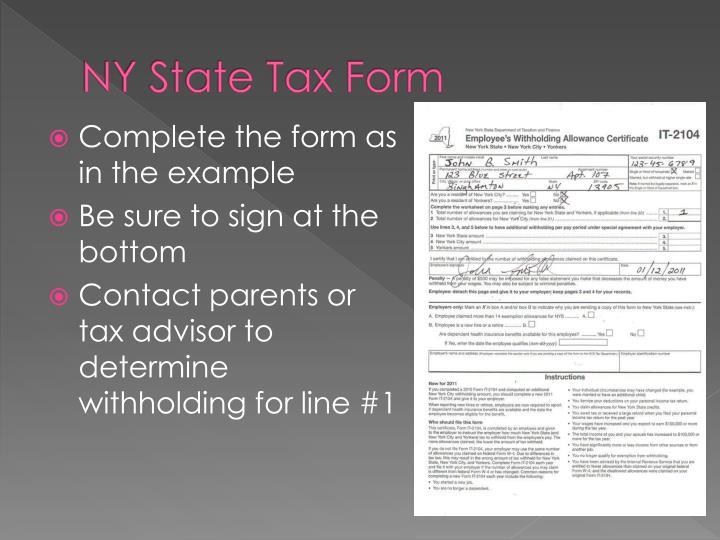 NY State Tax Form