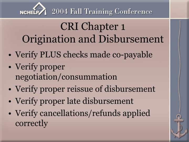 CRI Chapter 1