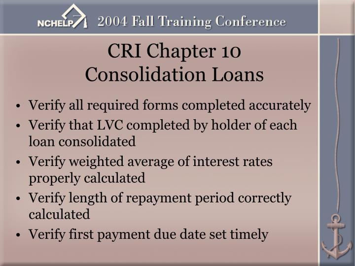 CRI Chapter 10