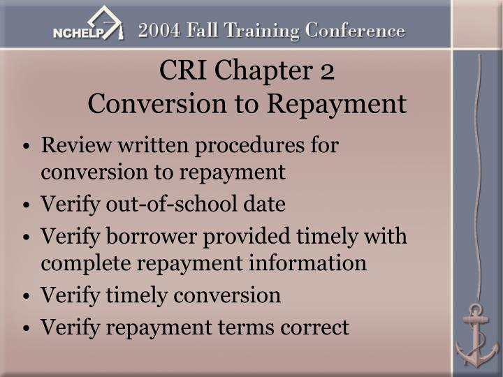 CRI Chapter 2
