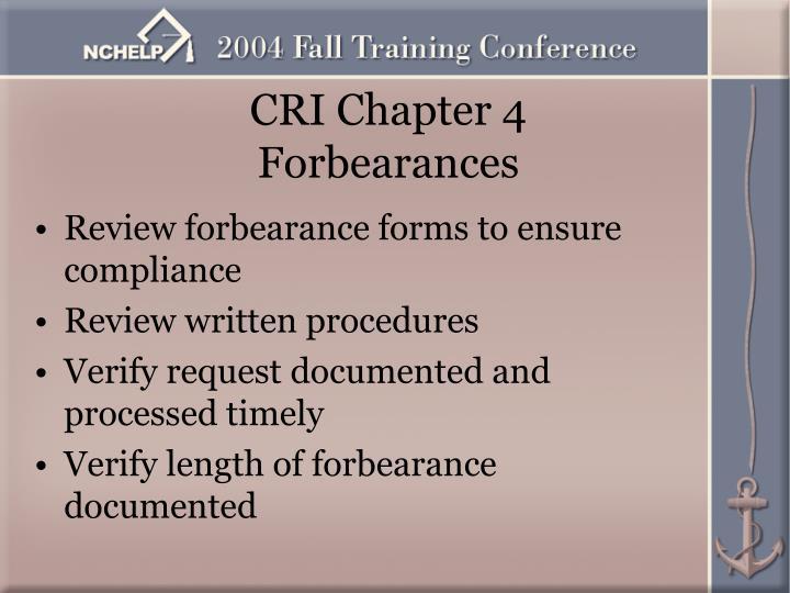 CRI Chapter 4
