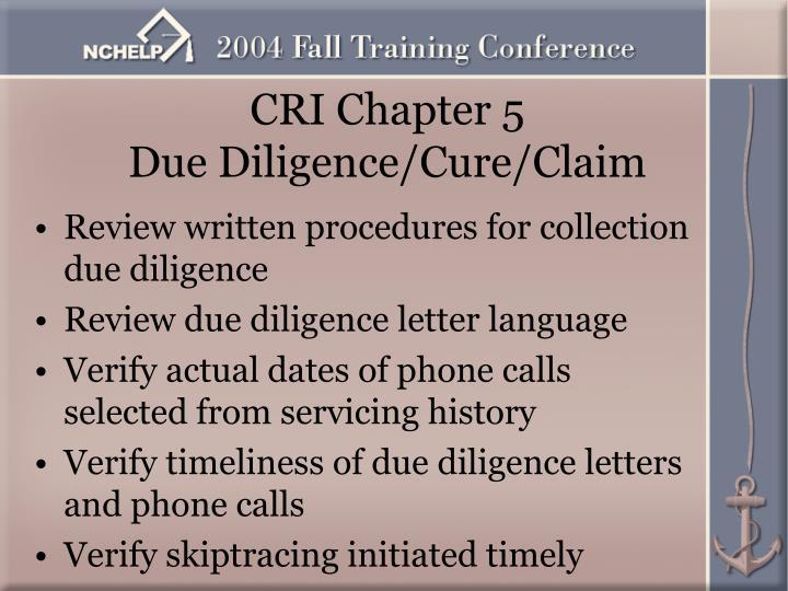 CRI Chapter 5