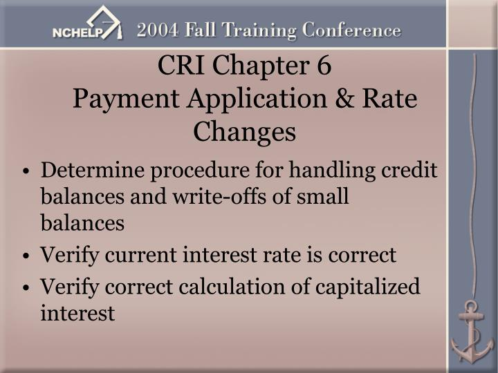 CRI Chapter 6