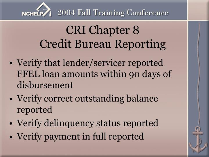 CRI Chapter 8