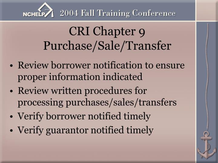 CRI Chapter 9
