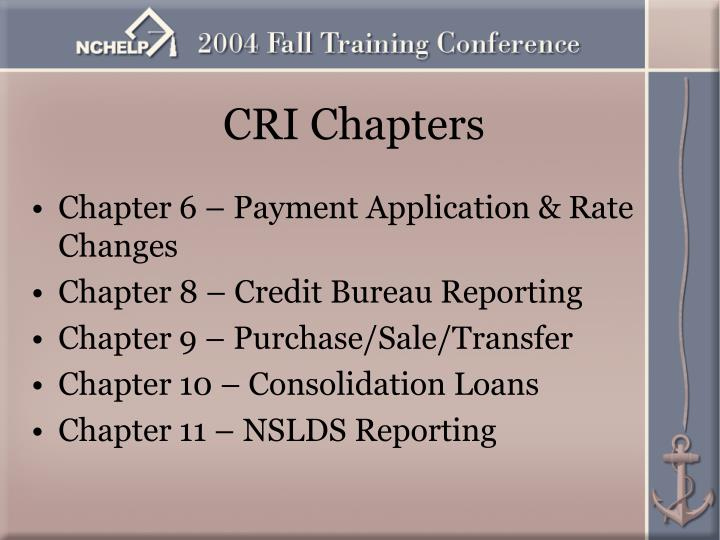CRI Chapters