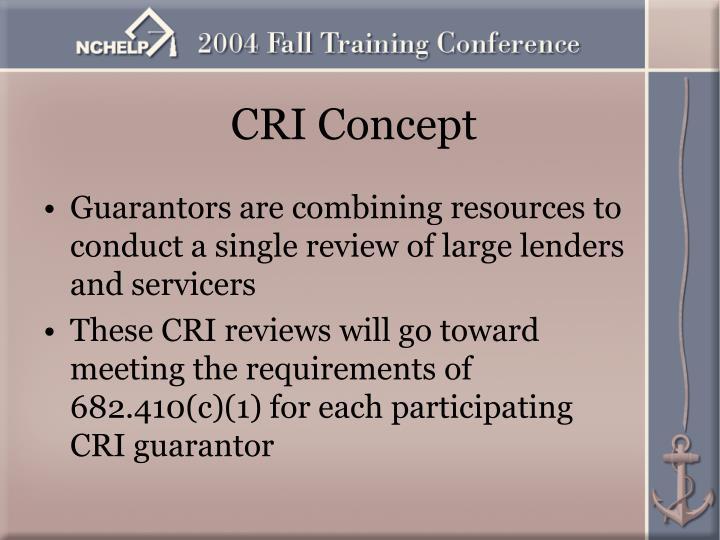 CRI Concept