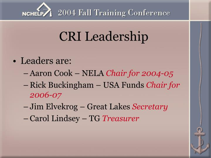 CRI Leadership