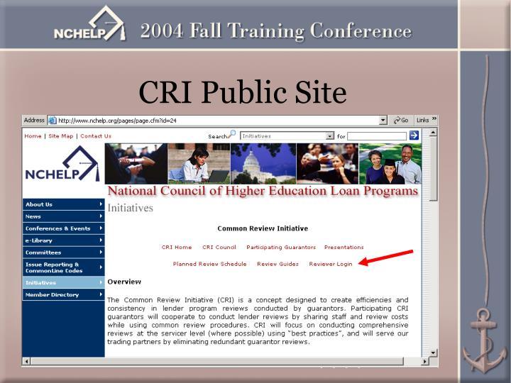 CRI Public Site