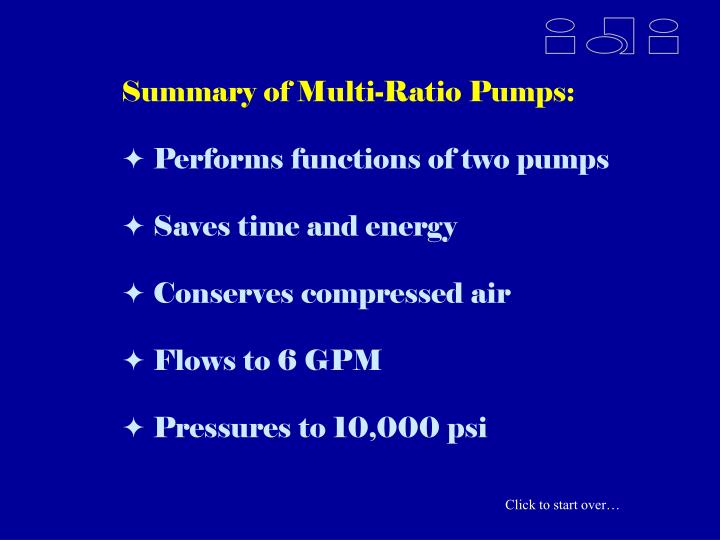 Performs functions of two pumps