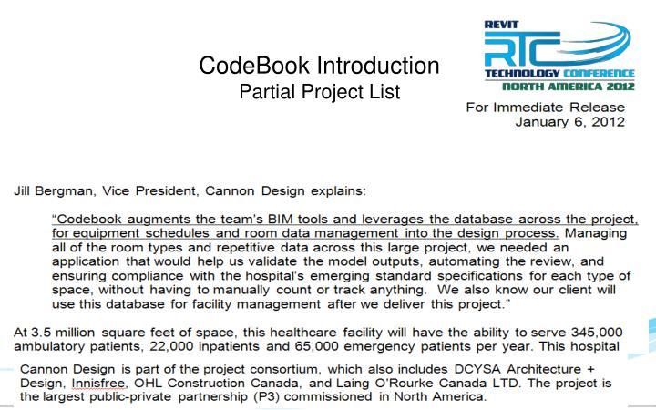 CodeBook Introduction