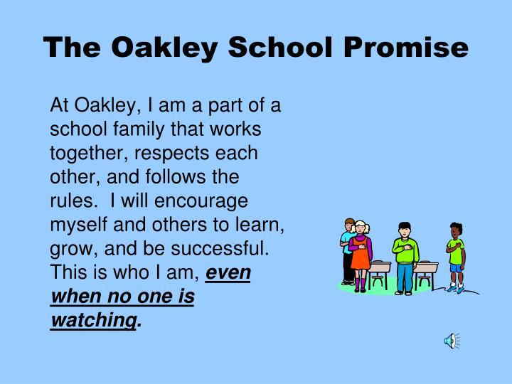 The Oakley School Promise