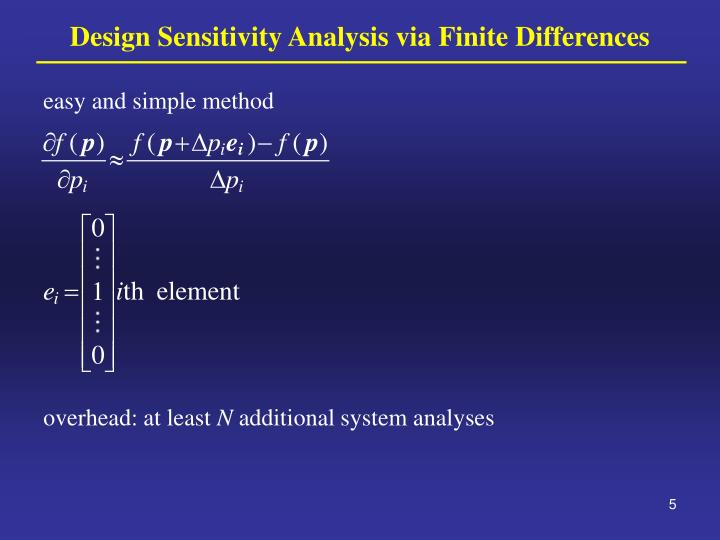 Design Sensitivity Analysis via Finite Differences