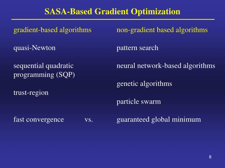 gradient-based algorithms
