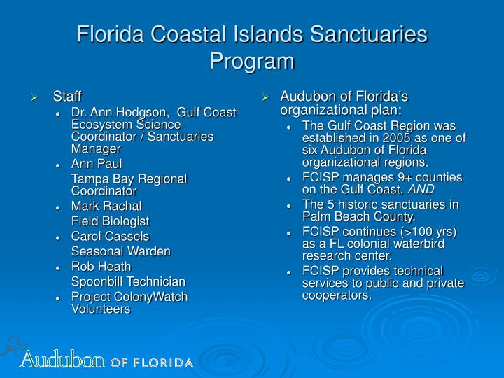 Florida coastal islands sanctuaries program