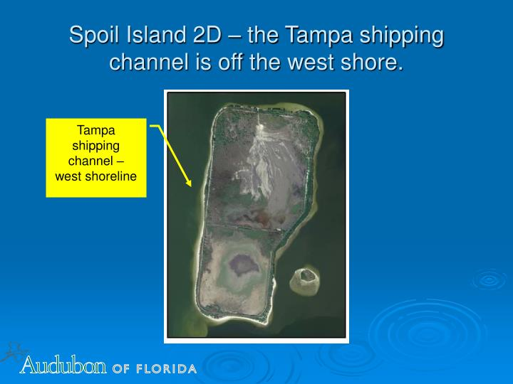 Spoil Island 2D – the Tampa shipping channel is off the west shore.