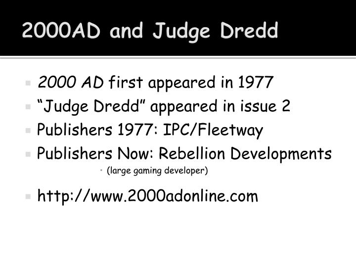 2000AD and Judge