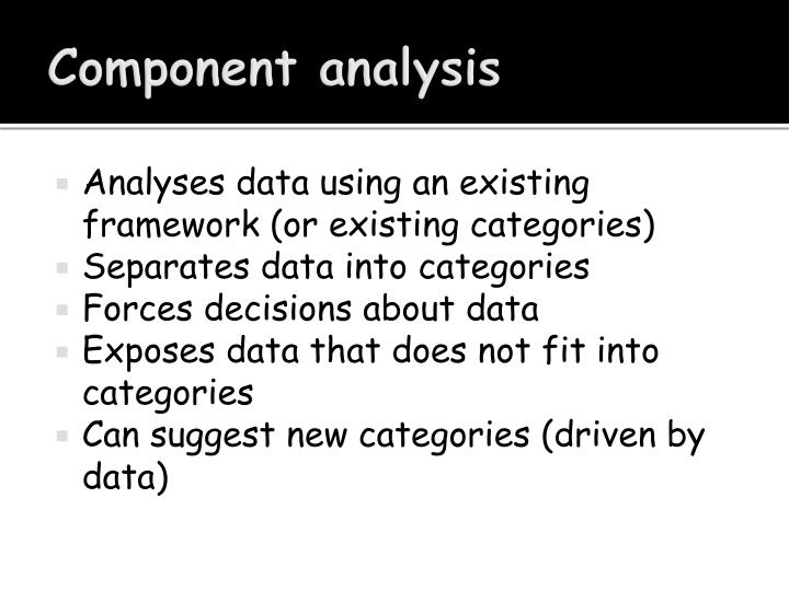 Component analysis