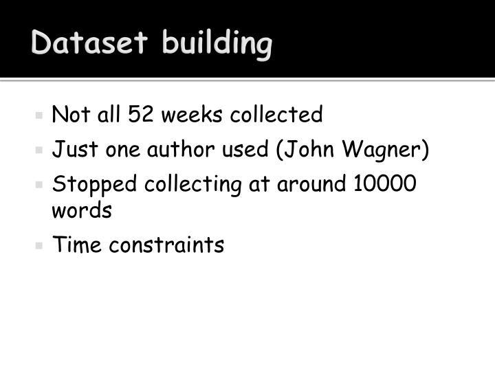 Dataset building