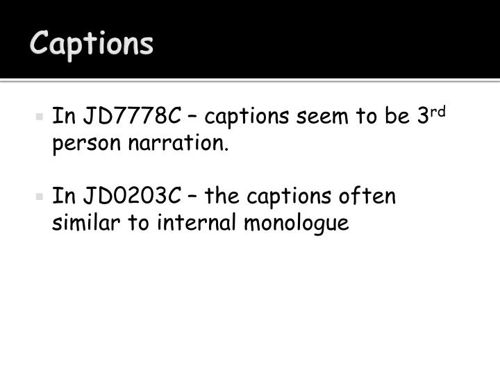 In JD7778C – captions seem to be 3