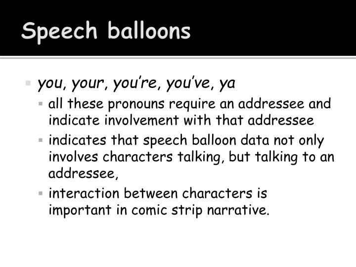 Speech balloons
