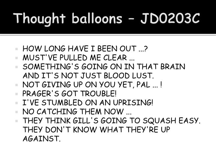 Thought balloons – JD0203C
