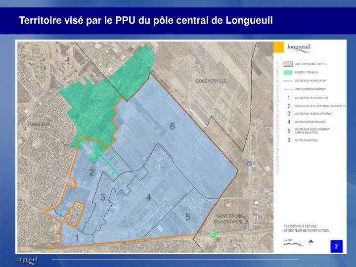 Territoire visé par le PPU du pôle central de Longueuil