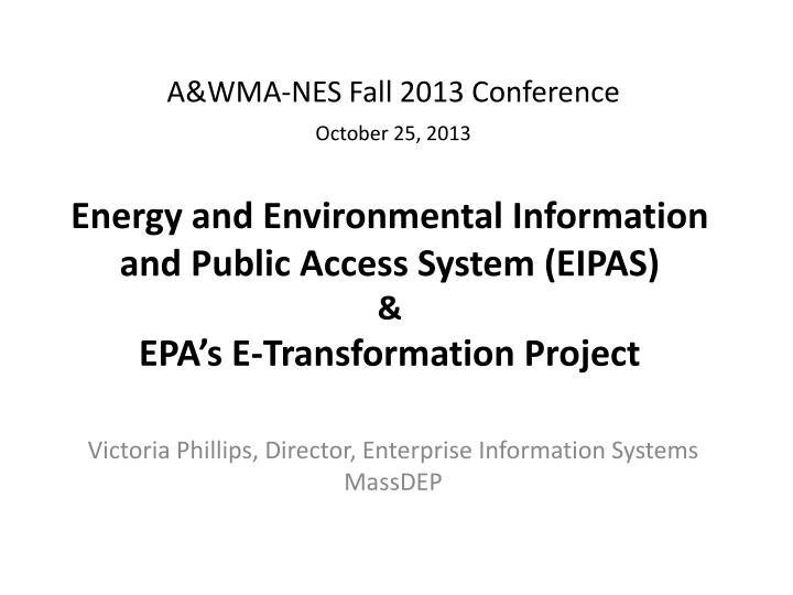 A&WMA-NES Fall 2013 Conference
