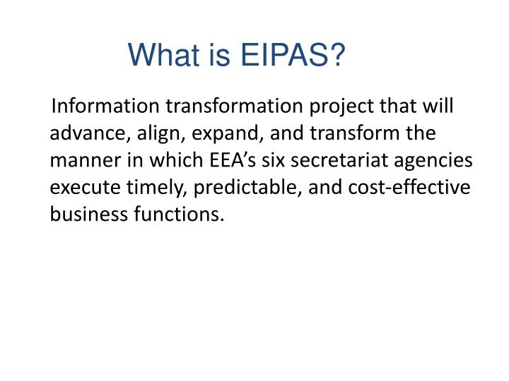 What is eipas