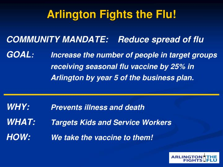 Arlington Fights the Flu!