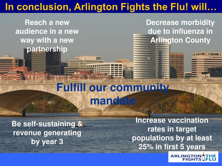 In conclusion, Arlington Fights the Flu! will…