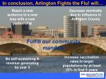 in conclusion arlington fights the flu will