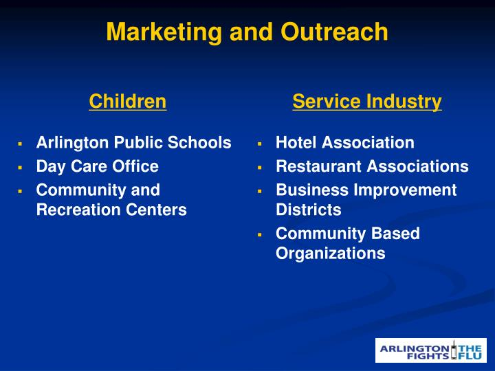 Marketing and Outreach