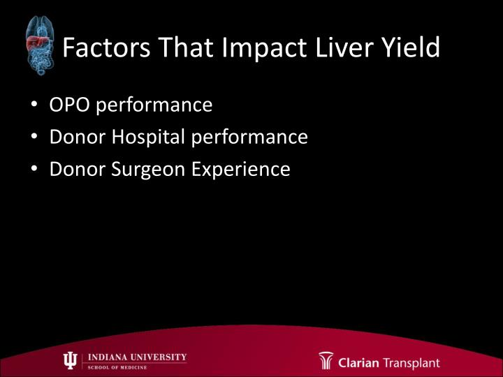 Factors That Impact Liver Yield