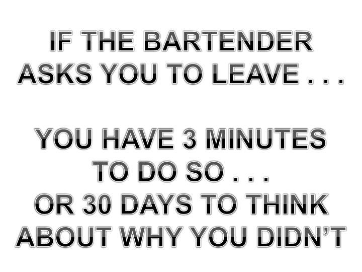 IF THE BARTENDER