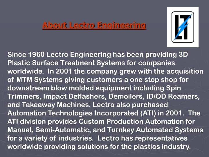 About Lectro Engineering