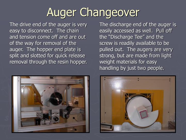 Auger Changeover