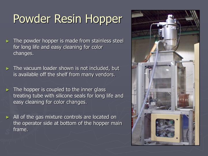 Powder Resin Hopper