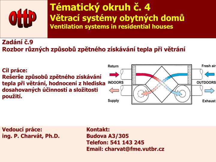 Tématický okruh č. 4