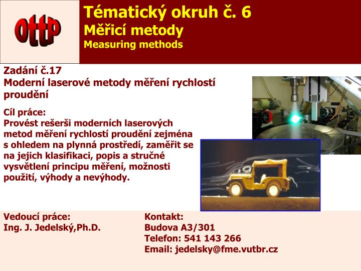 Tématický okruh č. 6