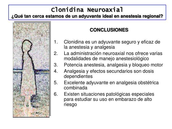 Clonidina Neuroaxial