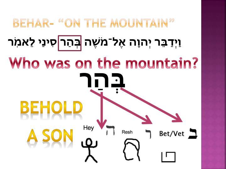 "Behar- ""on the mountain"""
