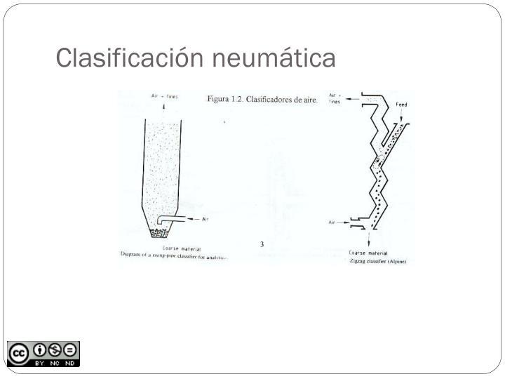 Clasificación neumática